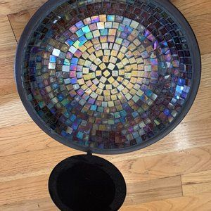 Mosaic Iridescent Candle Holders (2)
